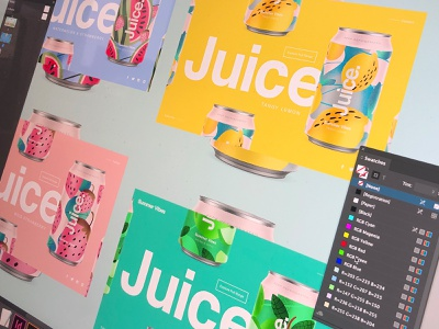 Juice. | Summer Vibes landingpage uidesign web ui package sketch illustration drinks can summer pattern cans logo packaging typography color branding candesign apple