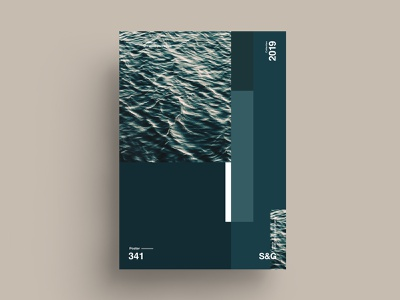oceanview. grid minimalist ocean typography type poster illustration swiss vector color art posterdesign gradient collage photoshop adobe collageart cinema4d minimal nature