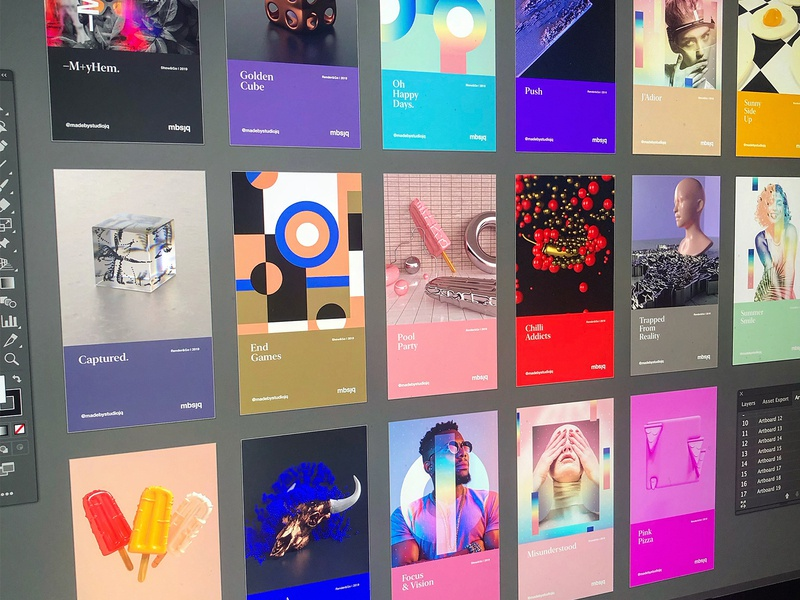 New Grid. ui design ui collageart adobe photoshop posterdesign retro art color vector texture swiss illustration poster type typography love gradient gradient design