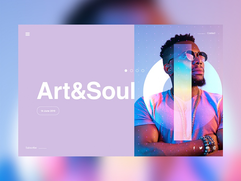 Art&Soul web landingpage ui collageart adobe photoshop collage posterdesign retro art color texture swiss illustration poster type typography love gradient gradient design