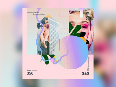 City Gal. city gradient design gradient surreal love typography type poster illustration swiss texture vector color art retro posterdesign collage photoshop adobe collageart