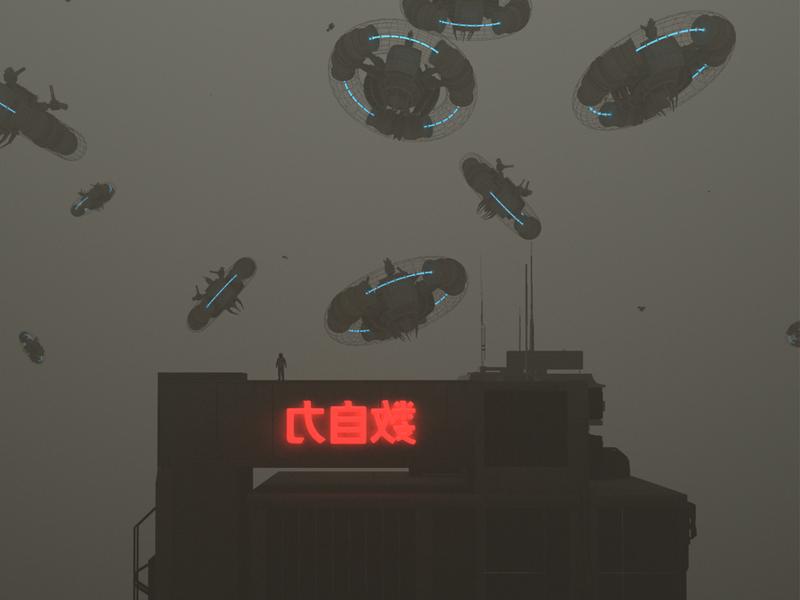 Invasion conceptart china shanghai kitbash3d 2019 astronaut space hologram mp4 abstract surreal fantasy scifi art octane render octanerender octane c4d cinema4d film