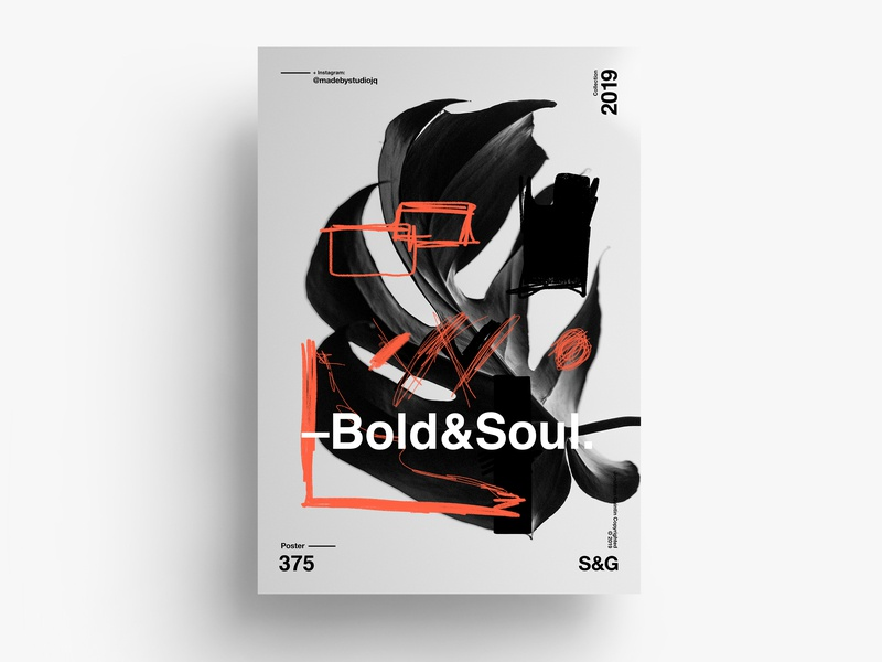 Bold&Soul. procreate gradient design gradient love typography type poster illustration swiss vector color art retro posterdesign collage photoshop adobe collageart nature helvetica