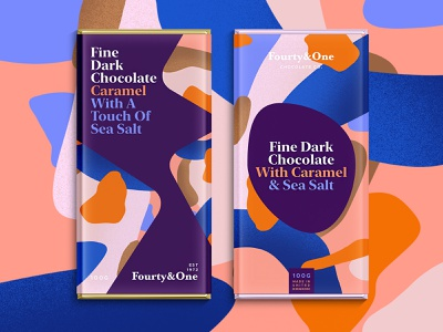 Fourty&One.   1 or 2? branding color typography packaging logo pattern summer illustration sketch package landingpage chocolate chocolatebar foodie procreate logodesign