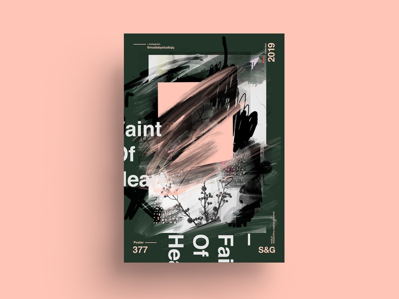 Faint Of Heart. procreate gradient design gradient love typography type poster illustration swiss vector color art retro posterdesign collage photoshop adobe collageart nature helvetica