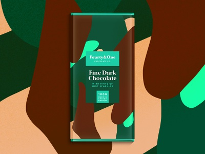 Fourty&One | Chocolate Co. | Mint. branding color typography packaging logo pattern summer illustration sketch package landingpage chocolate chocolatebar foodie procreate logodesign