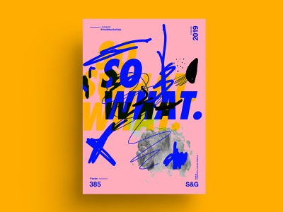 So What. cinema4d abstract helvetica nature collageart adobe photoshop collage posterdesign art color vector swiss illustration poster type typography love gradient design summer