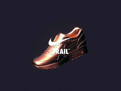 NikeLand | TRAIL™ motiondesign animated motion cinema4d octane branding type design gradient packaging logomark identity typography minimal cinema4dr20 r20 nike airmax xparticles