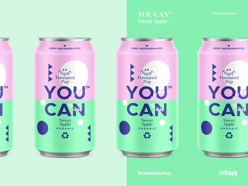YOU CAN™ l Sweet Apple packagingdesign landingpage ui package illustration drinks can summer pattern cans logo packaging typography color branding candesign product