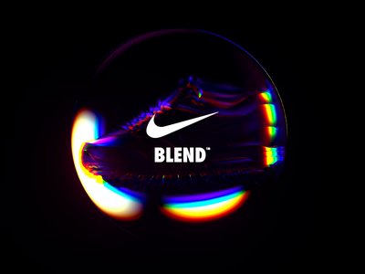 NikeLand | BLEND™ justdoit xparticles airmax nike r20 cinema4dr20 minimal typography identity logomark packaging gradient type branding octane cinema4d motion animated motiondesign