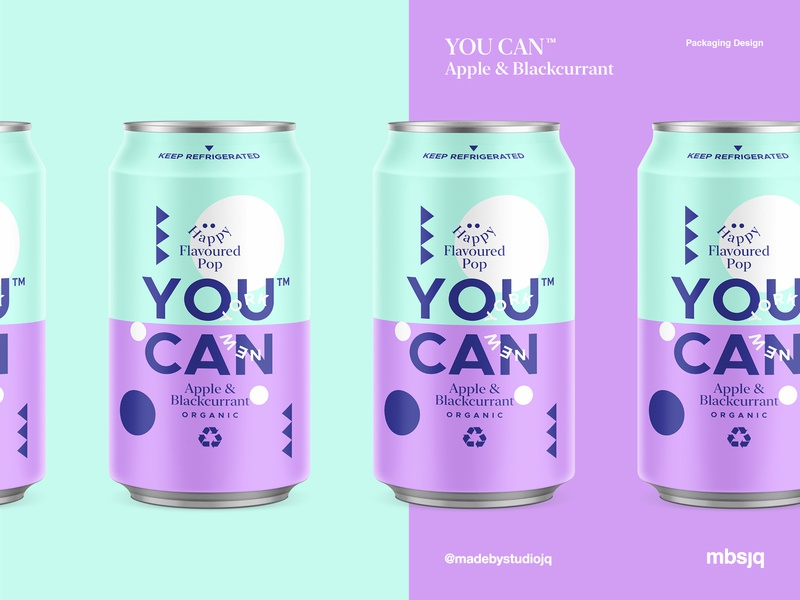 YOU CAN™ l Apple & Blackcurrant product candesign branding color typography packaging logo cans pattern summer can drinks illustration package ui landingpage packagingdesign
