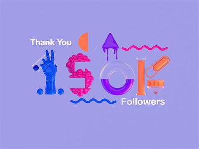YIKES! studio uk london freelance followers thankyou instagram motiondesign animated motion cinema4d octane branding type gradient identity typography minimal cinema4dr20 r20