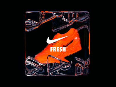 NikeLand | FRESH™ motiondesign animated motion cinema4d octane branding type gradient packaging logomark identity typography minimal cinema4dr20 r20 nike airmax xparticles justdoit