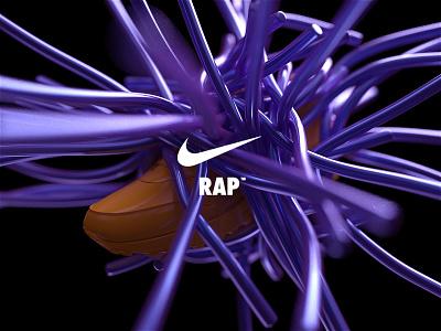 NikeLand   RAP™ justdoit xparticles airmax nike r20 cinema4dr20 minimal typography identity logomark packaging gradient type branding octane cinema4d motion animated motiondesign