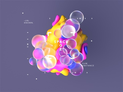 Space Age l Chewing Gum chewinggum gum r20 cinema4dr20 spaceart minimal typography identity logomark logo gradient design type octane cinema4d motion animated motiondesign scifi