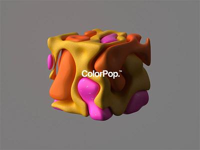 ColorPop™ branding web fun abstract animated 4d octane cinema4d color design animation motion design motion
