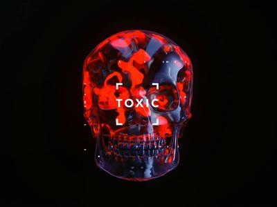 TOXIC toxic goth skull 2019 space hologram mp4 abstract surreal fantasy scifi art octane render octanerender octane c4d cinema4d film interstellar