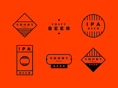 Beer Logomarks typography beercan cans type logos icon packaging ipa logomark logo beer