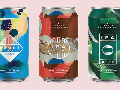 Beer Cans beer art abstract texture logomark photoshop packaging branding london logo beercan beercans beer beers