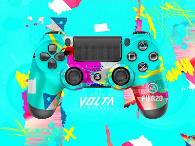 FIFA 20 | PS4 Controller packagaing football logo branding photoshop hazard football easports skin ps4controller playstation4 playstation ps4 volta fifa fifa20