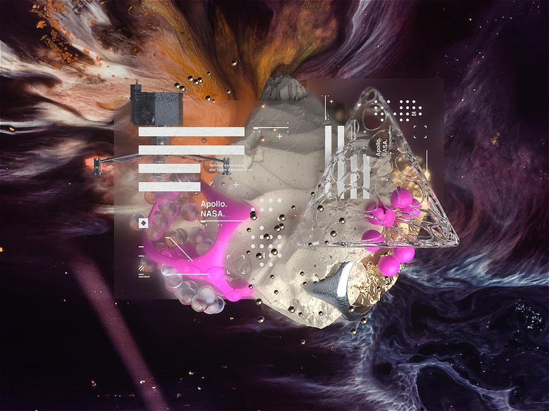 Space Age l Project Mercury c4d cinema4d abstract logo branding art abstract galaxy universe science octane nasa apollo scifi space