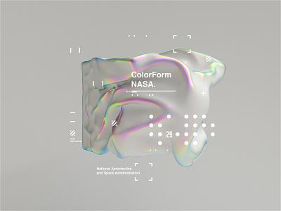 NASA l ColorForm. concept branding scifi nasa space c4d helvetica octanerender octane c4dr20 cinema4d