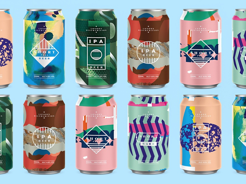 Beer Cans photoshop collageart can beers texture pattern beer art abstract collage packaging logo beercan beer