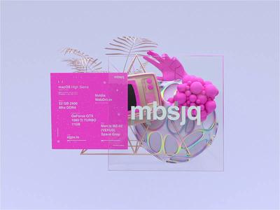 iMac Feat Octane   MBSJQ setup ux c4dr20 ui uidesigner interactive interaction minimal website webgl web design clean octane uidesign cinema4d web