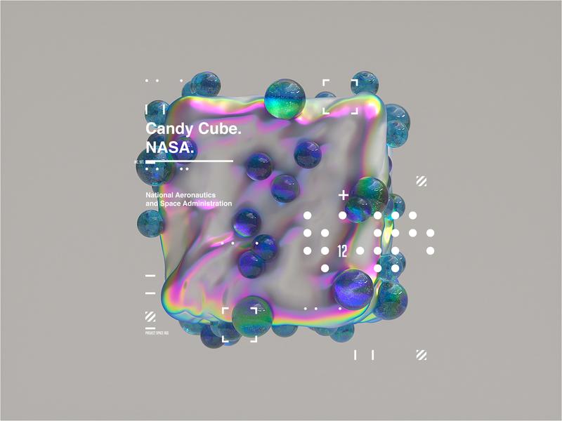 NASA l Space Age | Candy Cube space octanerender c4d c4dr20 ux c4dr20 ui uidesigner interactive interaction minimal website webgl web design clean octane uidesign web