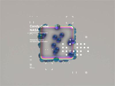 NASA l Space Age   Candy Cube   Motion. gradient space octanerender c4d c4dr20 ux c4dr20 ui uidesigner interactive interaction minimal website webgl web design clean octane uidesign web