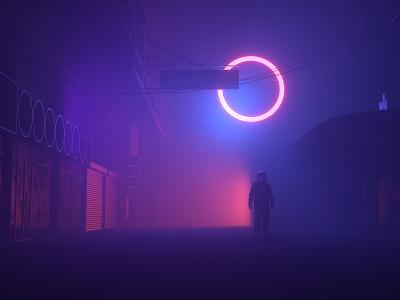 Darkness astronaut fog movie film interstellar animation motion scifi space octanerender octane c4d c4dr20