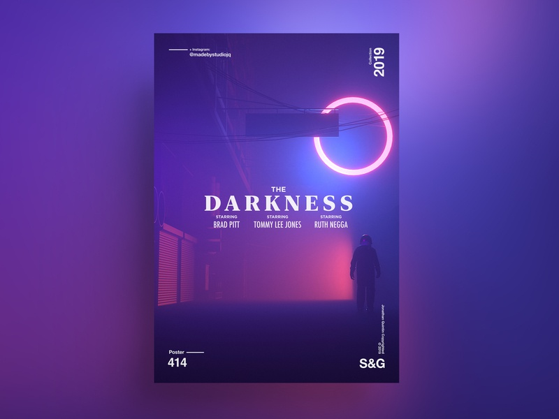 Show & Go l 414 l The Darkness. poster art gradient potserdesign poster movie film interstellar animation motion scifi space octanerender octane c4d c4dr20