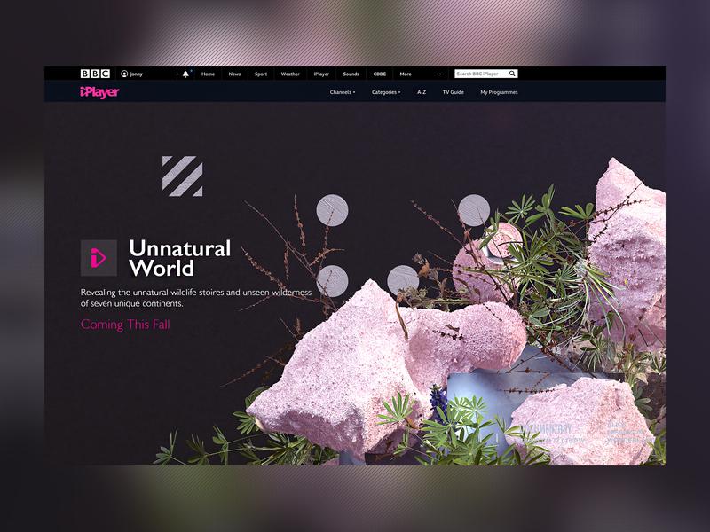 NASA X BBC iPlayer   Unnatural World nature illustration wildlife nature bbc ux c4dr20 ui uidesigner interactive interaction minimal website webgl web design clean octane uidesign cinema4d web