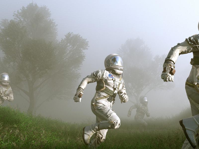 Battle Cry. astronaut maxon poster movie film interstellar animation motion scifi space octanerender octane c4d c4dr20