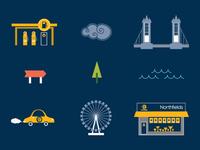 Icon set for a London estate agents campaign