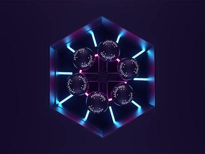Neon SQUISHY maxon octane softbodies branding logo motiondesign animation neon motion c4dr21 cinema4d