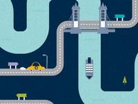 Illustration for a London estate agents (Campaign)