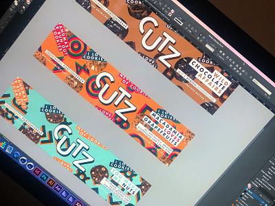 CUTZ | Branding & Packaging food and drink logotype cookie monster foodpackaging foodie cookies illustration logomark logo packaging food cookie