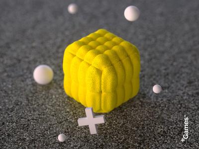 +Games™ [Lemon] art surreal cinema 4d 3d octane abstract stilllife cinema4d