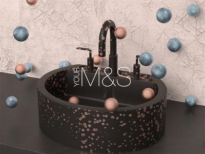 YOUR M&S cinema4d christmas branding design interior redshift realism stilllife render c4dr21 c4d