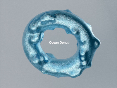Ocean Donut. c4dr21 logotype abstract logo animation abstract ocean cinema4d redshift motion