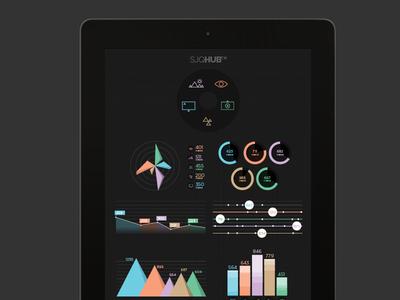 SJQHUB™ Visual Data 4 infographics info graphics app ui ui design texture studio iphone ipad data visualization statistics diagram ux interface
