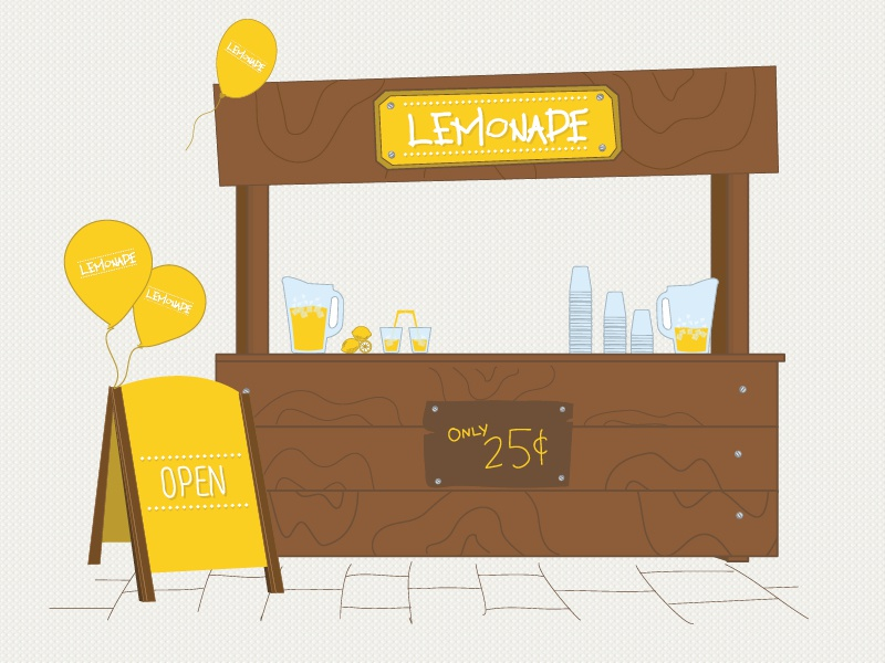 Ontraport lemonade stand by studio jq dribbble for Animation stand