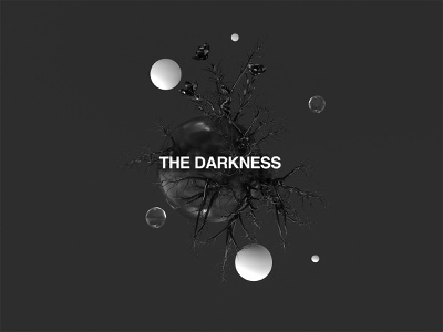 THE DARKNESS surreal nature night art asbtract c4dr21 cinema4d render