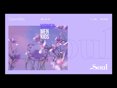 Soul by Calvin Klein web designer calvinklein fashion motion layout ui design perfume clean typogaphy type webdesign web design ui branding