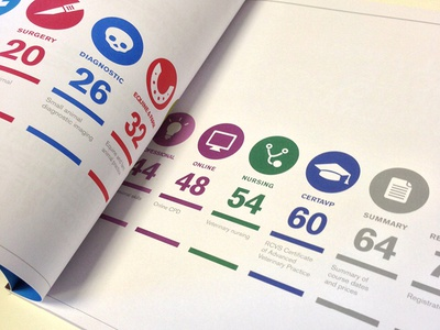 CPD 2013 iconset icons iconset veterinary vets uncoated graphic design brochure layout clean workbrands bristol london
