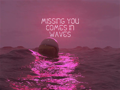 Missing You Comes In Waves quote sea astronaut astro c4dr21 movie film interstellar animation motion scifi space octanerender octane c4d c4dr20