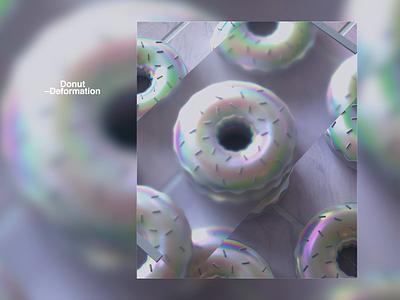 Donut Deformation iridescent animation web redshift r21 cinema4d gradient motion donut