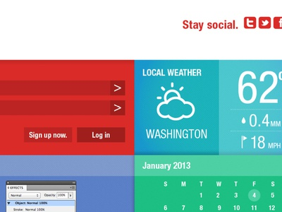 (Weather block) website/interface 2