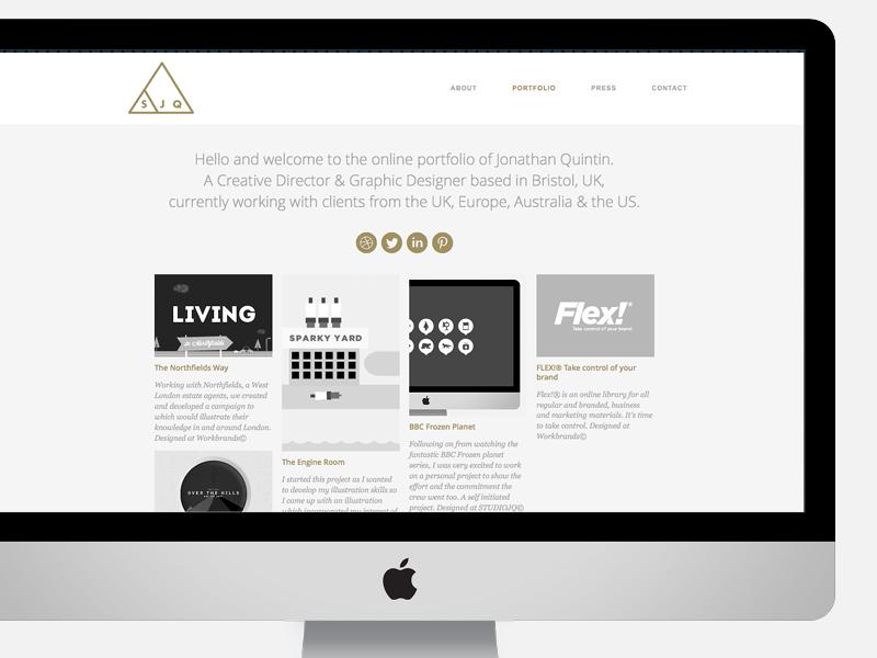 SJQ - Portfolio website (In development) portfolio website web ui ux freelance bristol style mono gold cms